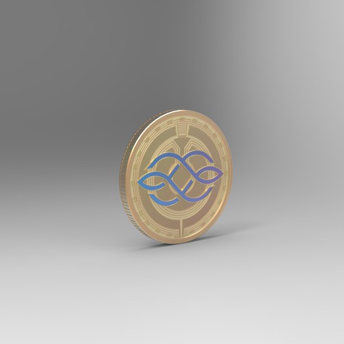 Crypto Coin 3D design