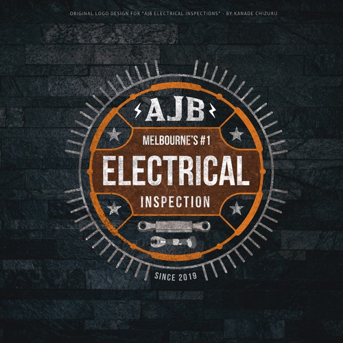 Vintage-themed Logo Design for AJB Electrical Inspections