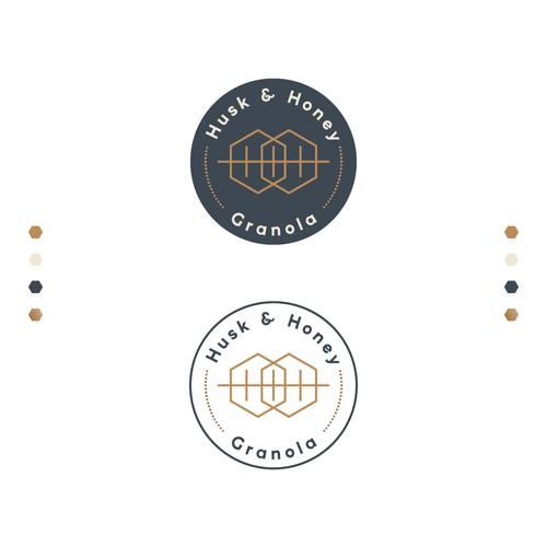 Logo Design Concept for Husk & Honey Granola