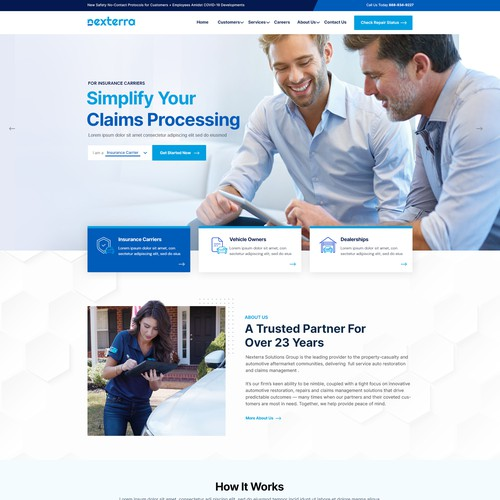 Web Design for Insurance Company