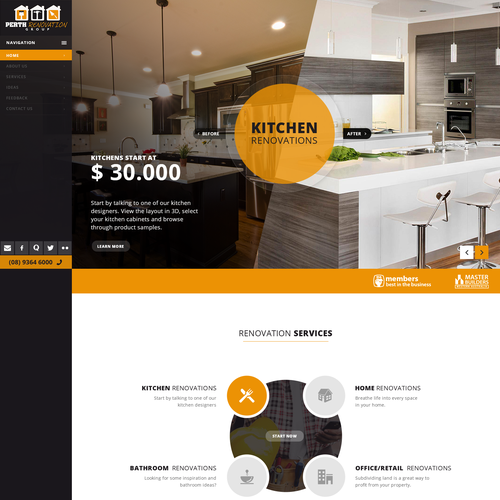 Making home renovations come to life through a simple and clear website.