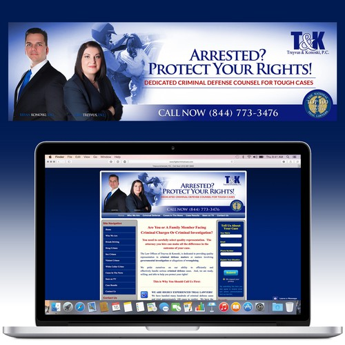 Website Header for Criminal Defense Lawyer