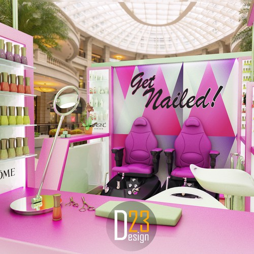 3D visualisation for manicure/pedicure kiosk.