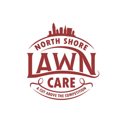 The one colour logo for lawn business