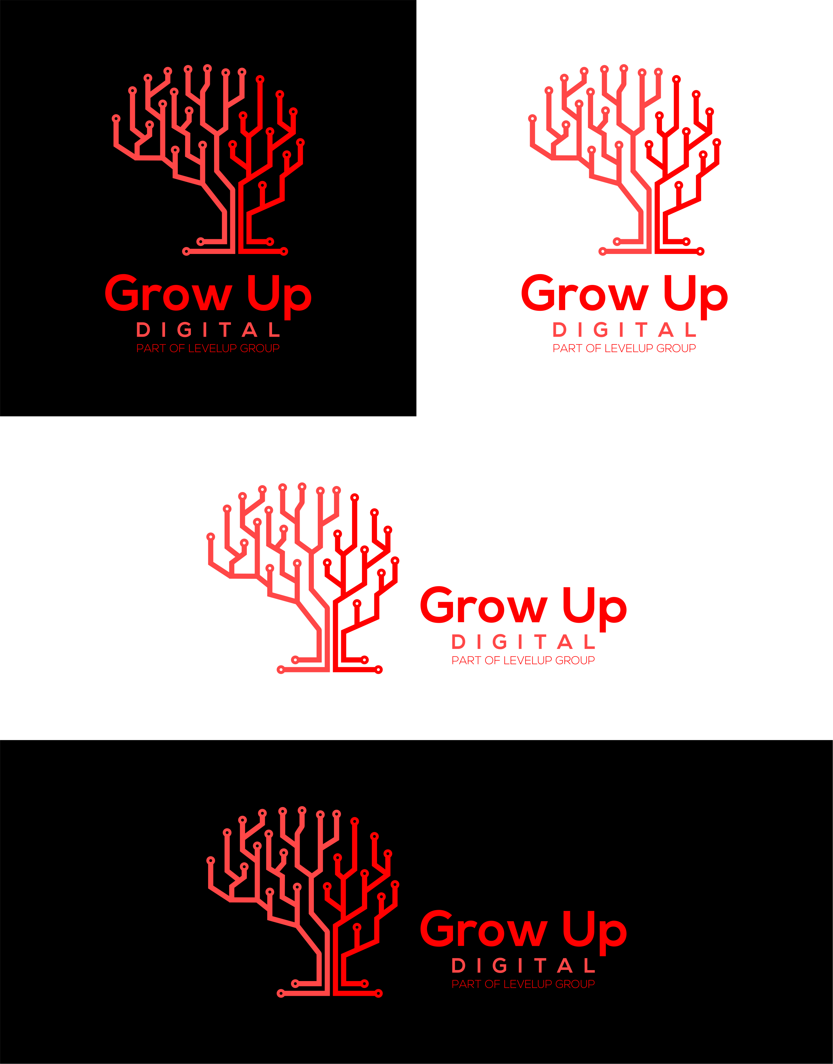 Design logo for digital marketing start up Grow Up Digital