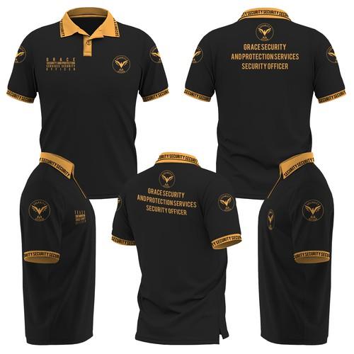 Design a custum Polo shirt for a Security Company