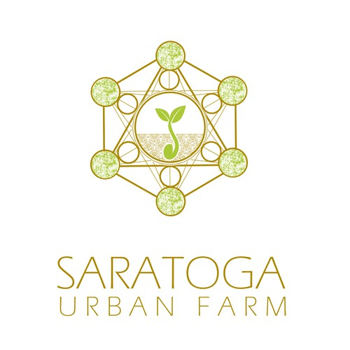 Original and geometric logo for an urban farmhouse