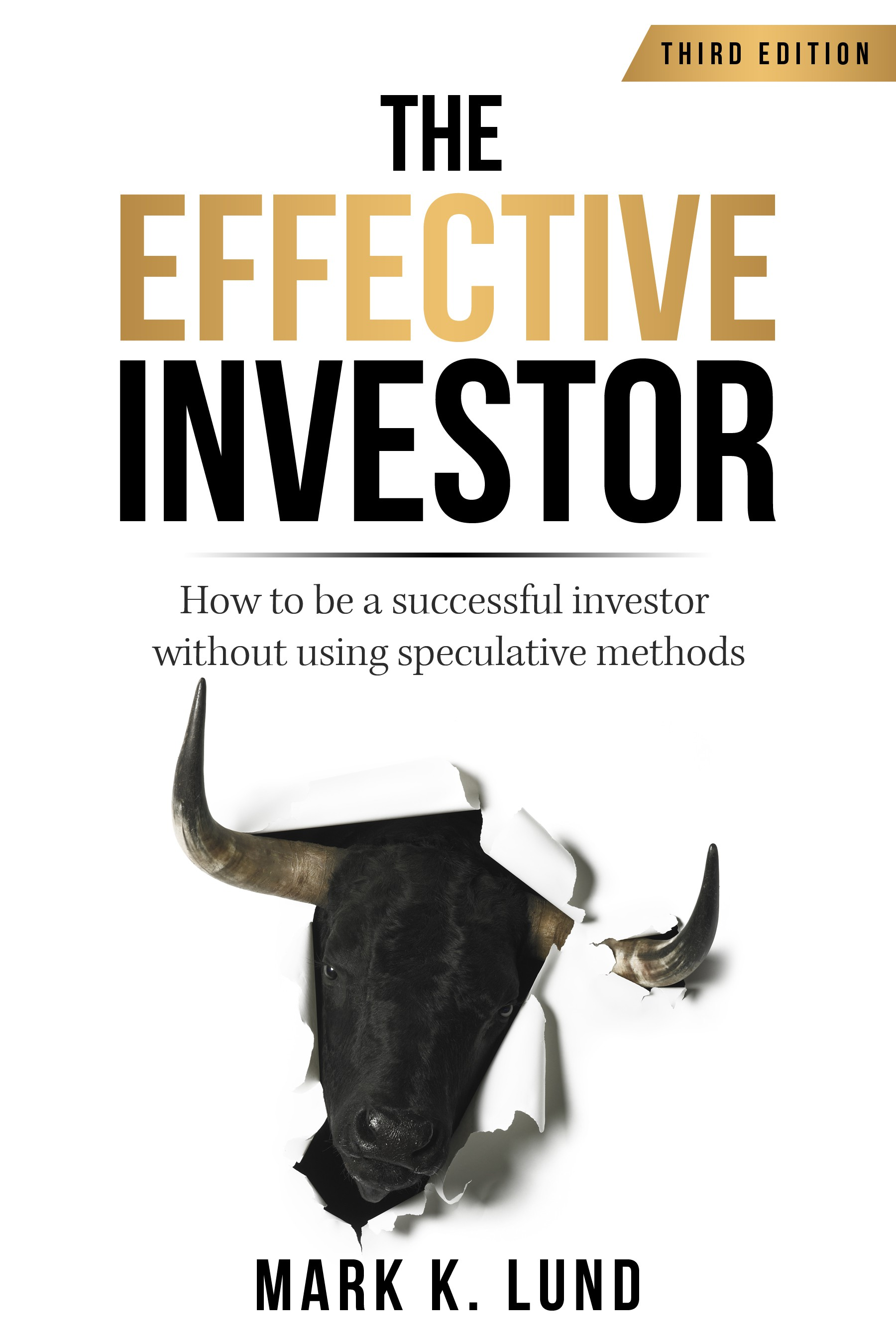 Book cover design for a book on investing
