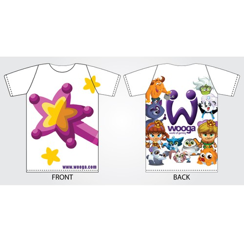 Wooga needs a new t-shirt design!