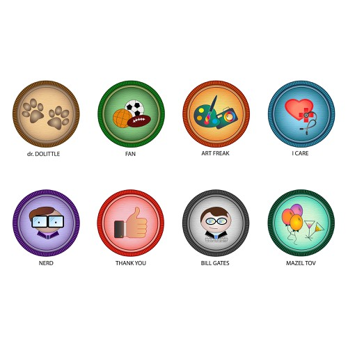 Cool badges for crowdfunding platform