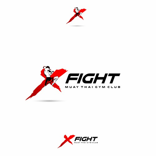 Fighter Logo For Muay Thai Gym Club