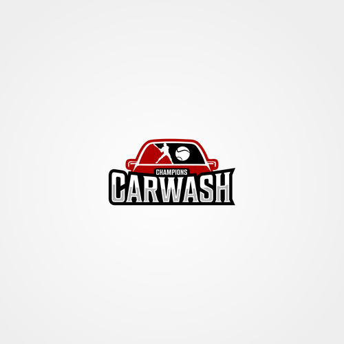 Design a sports themed logo for Champions Carwash