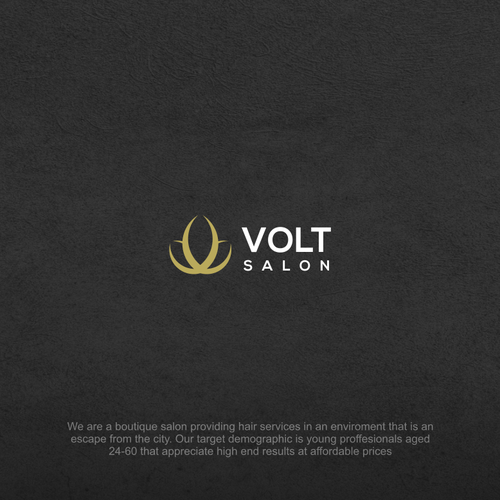 Logo for a boutique salon with a vintage feel for VOLT Salon
