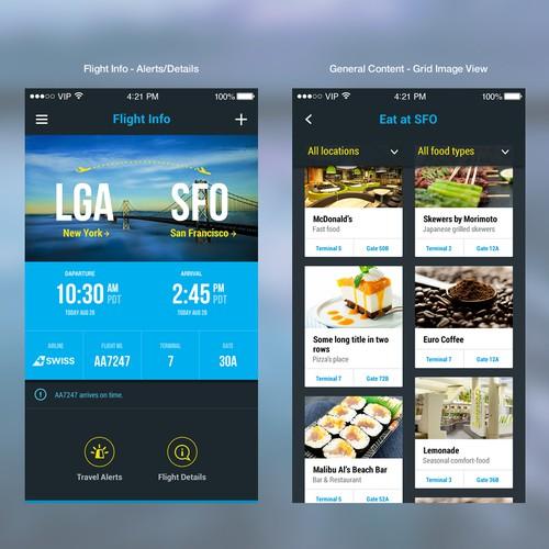 Modern, sexy smooth travel app