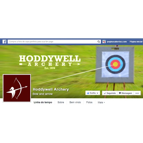 Create a capturing Facebook Coverpage and Profile Picture for archery/bowhunting company