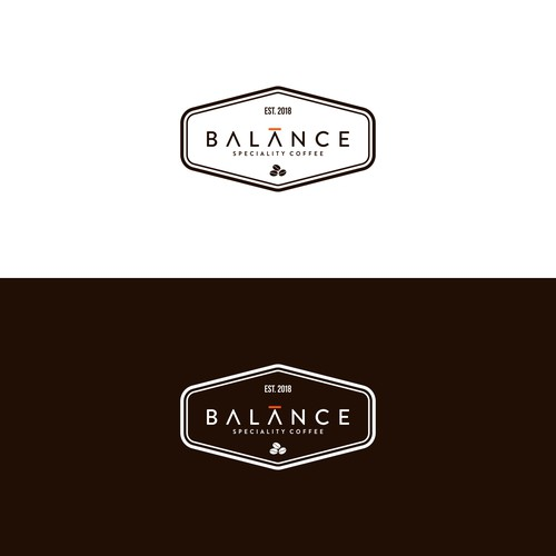 vintage-simple logo for Balance Coffee Shop