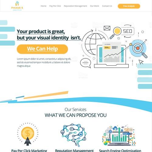 Online Marketing Webpage Layout 2