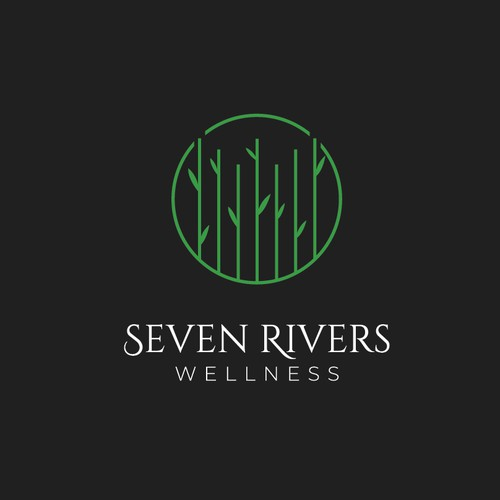 Logo for a luxury wellness property in the Caribbean.