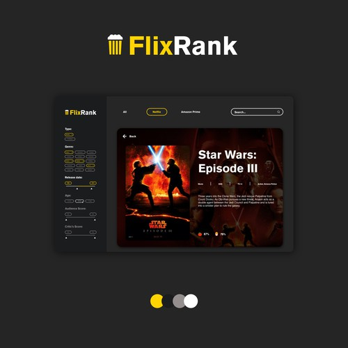Website Design Concept for FlixRank