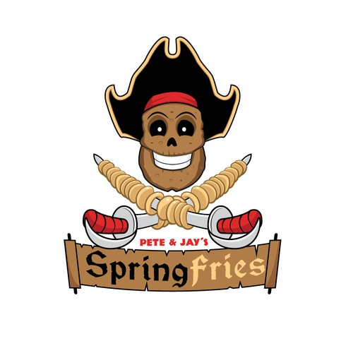 A fun vintage logo inspired by the jolly roger