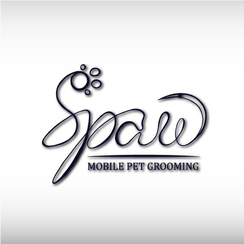 Logo concept for mobile pet grooming
