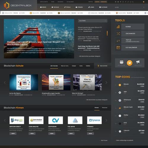 Blokchain blog design