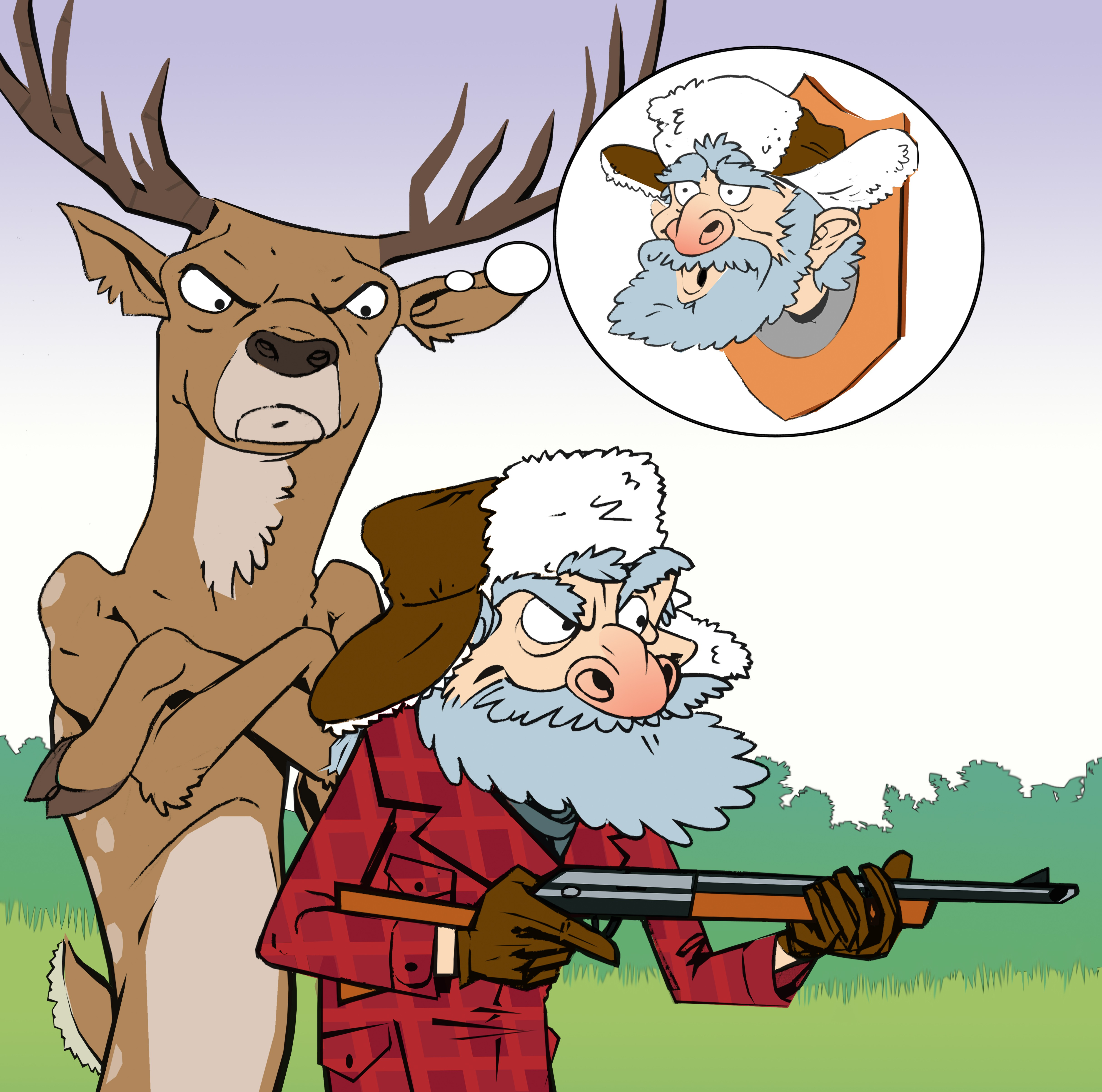 Design a Comedy CD front for 'The Best Deer Hunting Songs Ever'