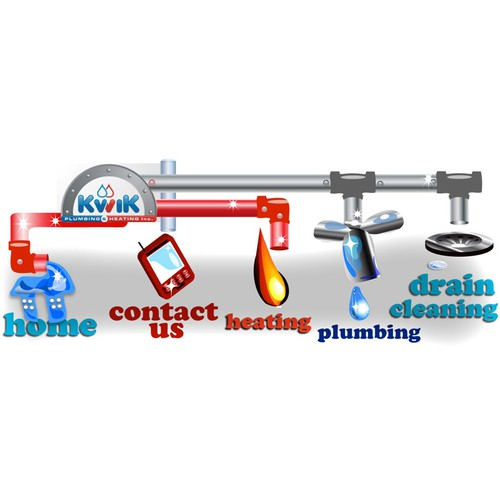 Create the next icon or button design for Kwik Plumbing and Heating Inc.