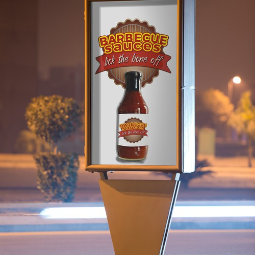 Bold Logo for Barbecue Sauce
