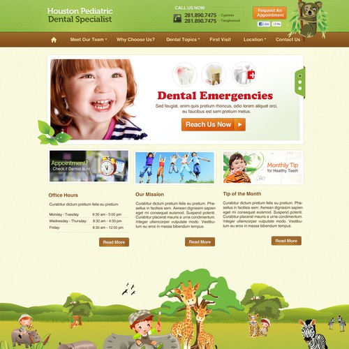 Clean and Playful design concept for HPDS website