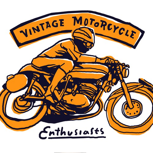 VINTAGE MOTORCYCLE STYLE GRAPHIC TEES