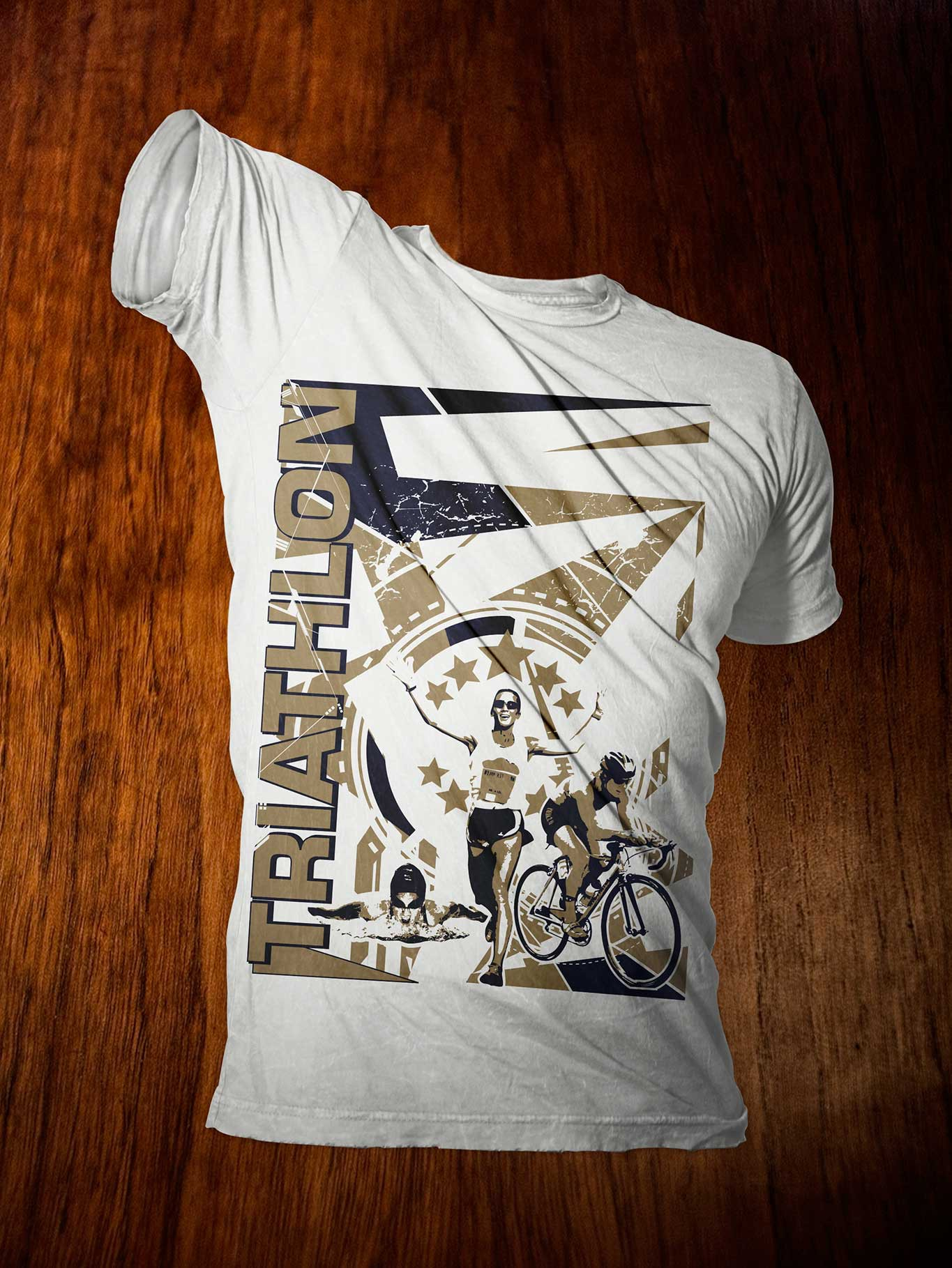 Innovative t-shirt design to promote Triathlons - All Designs Welcome!