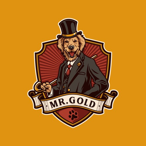 Badge Logo Design for Mr. Gold