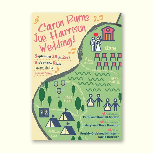 A Music Festival Themed Poster for Wedding