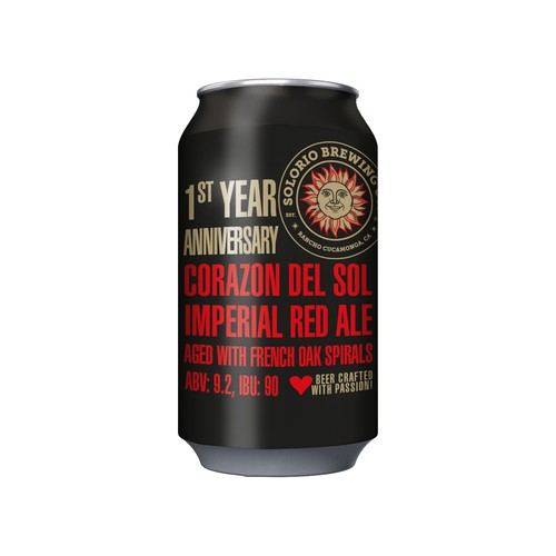 Design a Sophisticated 1st Year Anniversary Beer Can Label