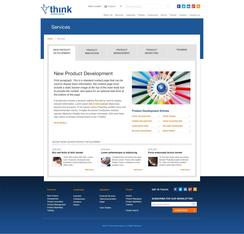 website design for Think Product Group Ltd