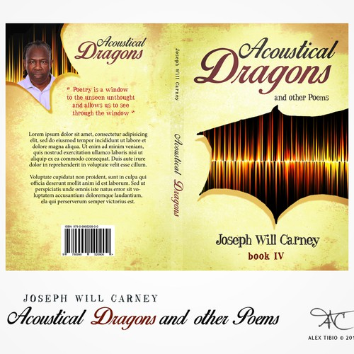 book cover design for Acoustical Dragons and other Poems