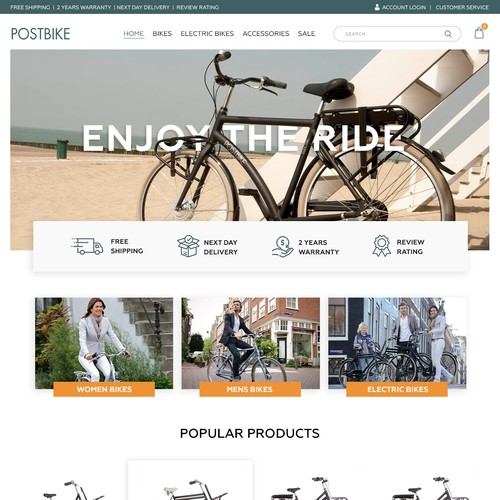Bicycle webshop!