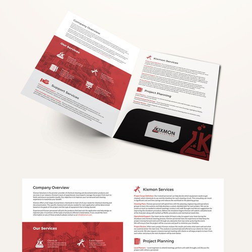 Bi fold brochure for kixmon