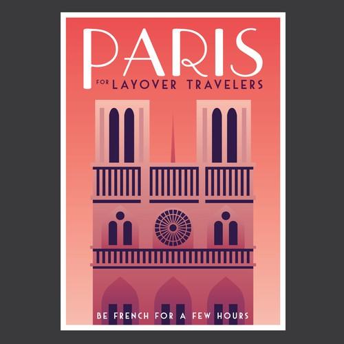Design for a tourist map of Paris