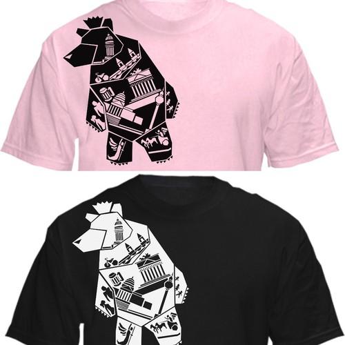 Berlin bear t-shirt design