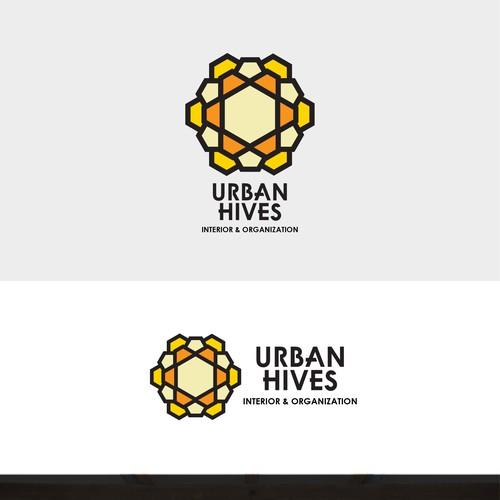 Bold Modern Logo for Urban Hives Interior
