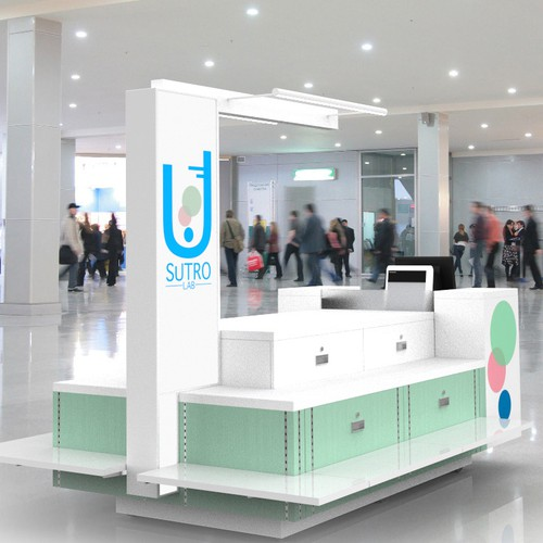 Retail Cart Rendering for Young, Modern, High End Beauty & Wellness Line