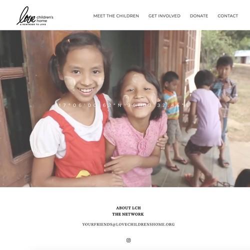 Love Children's Home: Non-Profit Website