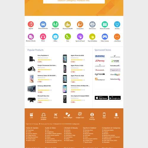 Sort Price Website Page Concept