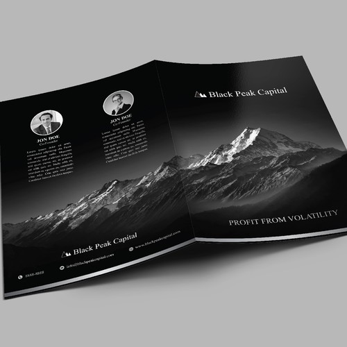 Impressive brochure/folder for an Investment firm