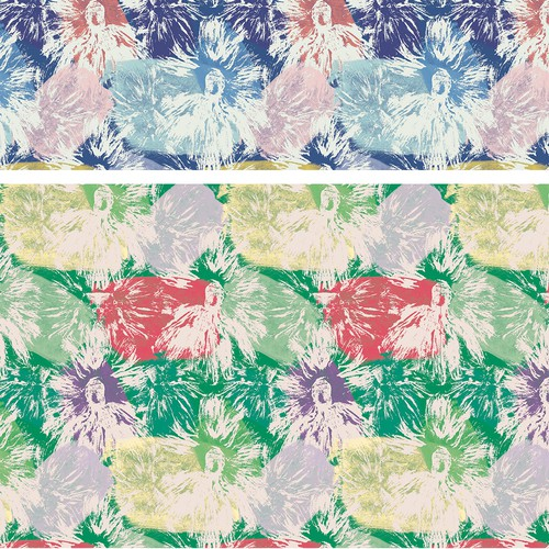 Abstract flowery pattern