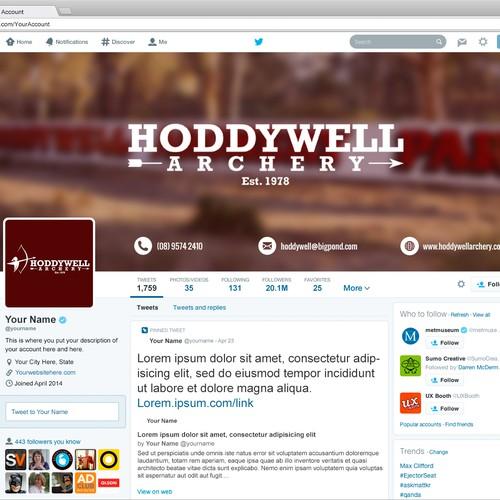 Twitter background & avatar