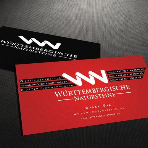 Business Card concept for Wurttembergische Natursteine