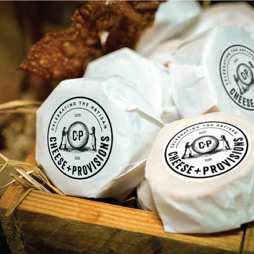 Logo design for Cheese+Provisions, a cheese store celebrating American artisans